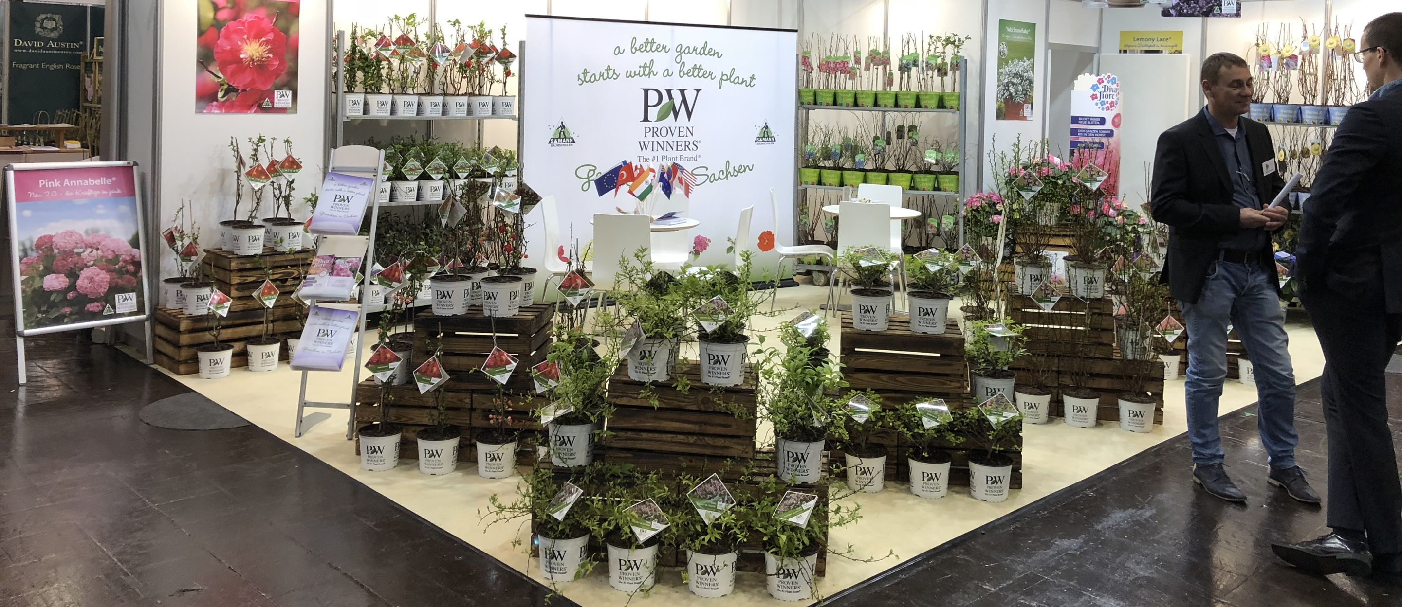 European Proven Winners Shrubs tradeshow display