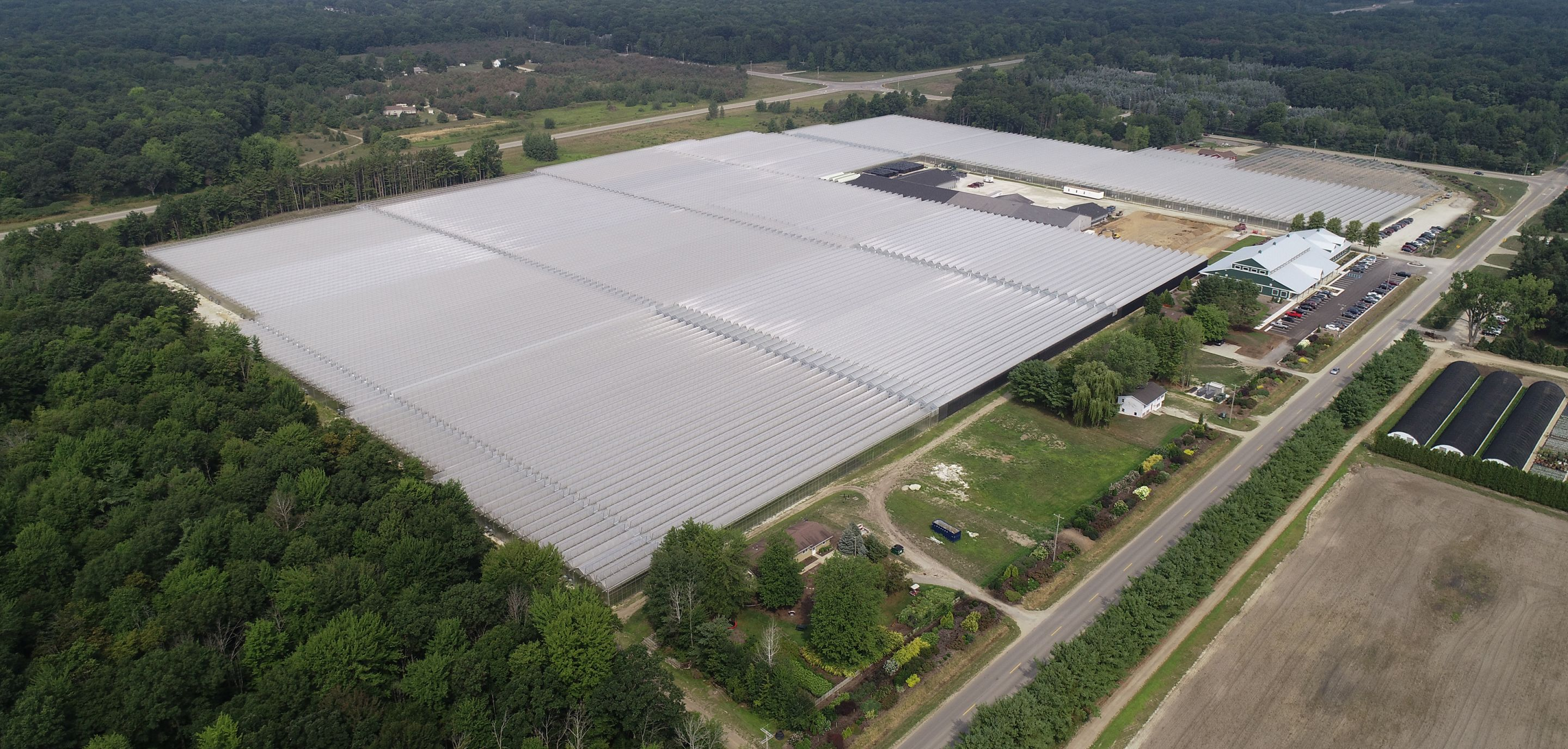 2018 Aerial View Of Spring Meadow Nursery